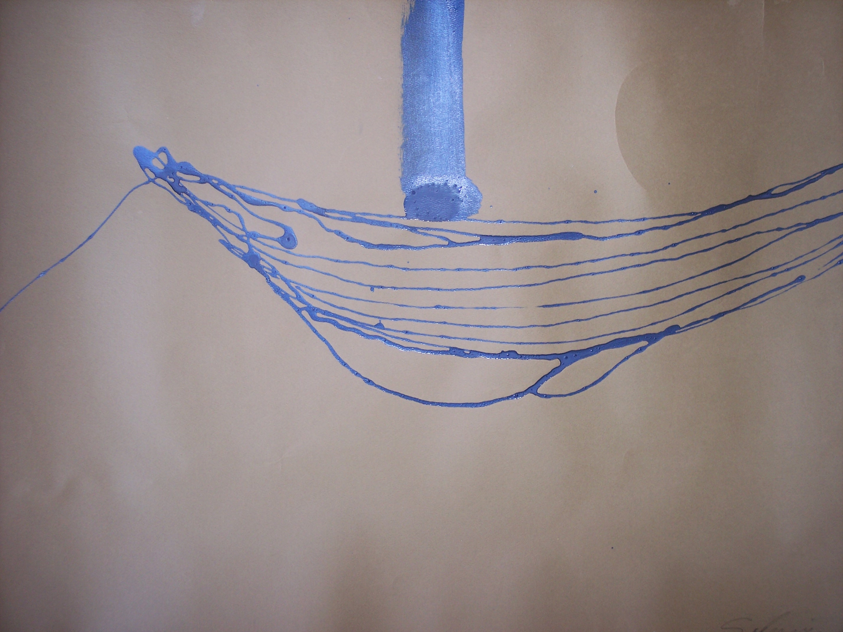 Bruce Sodervick The Sodus Art Bank Marine Wiring Diagrams Sailboat Mast Sheer Lines Lacquer 30x42 Inches 035
