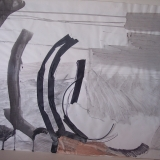 ribs & clamps, wash drawing,, 30x42 inches 019